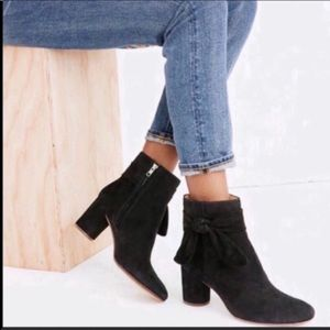 MADEWELL The Esme Bow Boots Black 6M